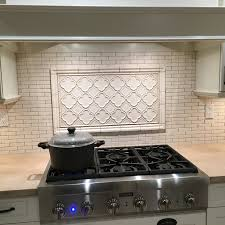 small backsplash using quemere tile designed by our experts at