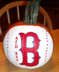 babycakes crafts painted boston red sox pumpkin