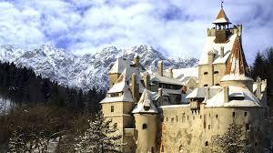 architecture bran castle castle romania hd wallpaper