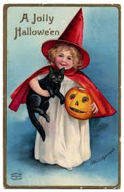 vintage halloween clip art darling little witch the