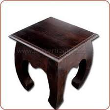 curved wood side table opium square curved legs wooden side table