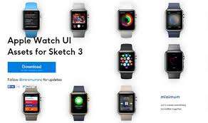 guis wireframes and sketch templates for apple watch apps