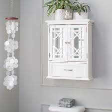 White Bathroom Cabinet Wall Cabinets Hayneedle
