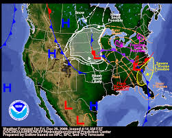 national weather forecast map wind gusts of 50 mph and higher cause minor damage