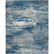 7 X 8 Area Rugs Safavieh Evoke Navy Ivory 8 Ft X 10 Ft Area Rug Evk272a 8 The