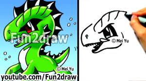 easy cartoon drawings draw cool sea monster drawing