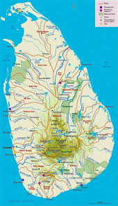 Sri Lanka On World Map by Elevation And Travel Map Of Sri Lanka With Administrative