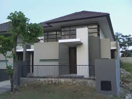 minimalist grey nuance home paint colors exterior with black fence