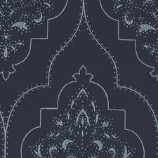 glamorous navy blue u0026 silver trellis patterned roller blinds