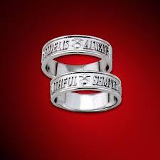 marine wedding rings marine corps traditional semper fidelis 14kt white gold s
