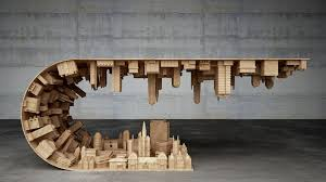 slate wood coffee table wave city coffee table by stelios mousarris looks like something out