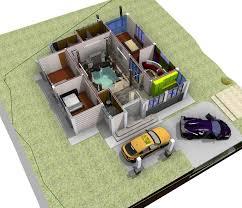 villa architecture building 3d cgtrader