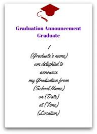 formal college graduation announcements graduation announcement wording
