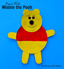 winnie pooh paper plate craft resourceful mama
