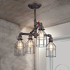 Edison Ceiling Light Unitary Brand Vintage Metal Water Pipe Pendant Light Max 200w With