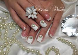shell manicure with gel 3d design wedding nails nails like shell