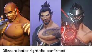 Tit Memes - no love for the right tit overmeme overwatch memes facebook