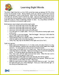 First Grade Sight Words Worksheets Free Parent Handout Learning Sight Words Fun Ideas For