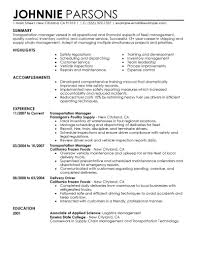 Shipping Manager Resume Resume Format Transportation Manager Co2 Research Papers
