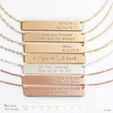 Personalized Bar Necklace Shop Name Gold Bar Necklace On Wanelo
