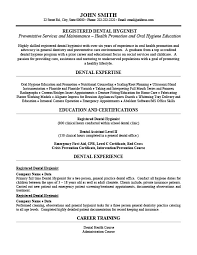 sample resume dental hygienist dental hygienist resume sample