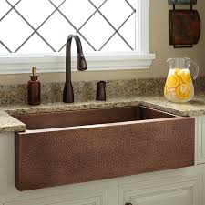 Perenna Reversible Copper Farmhouse Sink Kitchen - Copper sink kitchen
