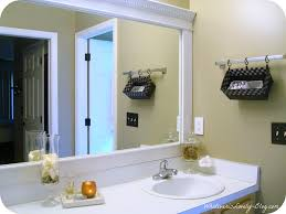 Unique Bathroom Mirror Frame Ideas Diy Add Frame To Bathroom Mirror Bathroom Mirrors