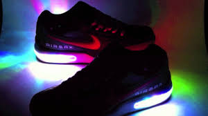 led lights shoes nike color changing light up nike air max ltd youtube