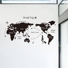 wholesale 80 140 travel world map background wall sticker