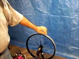 how to paint bicycle rims an easier way youtube