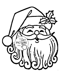 funny santa claus had coloring pages for kids printable free