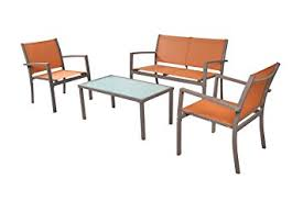 Amazoncom  TraXion  Outdoor Patio Furniture Set Sunset - Outdoor furniture set