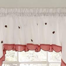 ladybug meadow tier window treatment