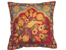 embroidered indian pillows wool cushion covers kashmir pillowcases
