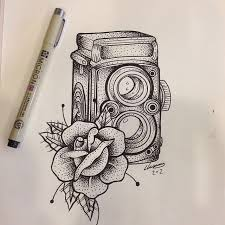 drawn camera photography art pencil and in color drawn camera