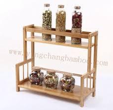 cuisine bambou de haute qualité cuisine bambou étagère à épices en bois buy