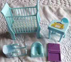 Graco Baby Doll Furniture Sets by Happy Family Pregnant Midge And Baby Barbie Crib Accessories