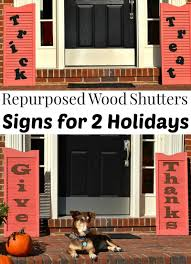repurposed wood shutters sign for organized 31