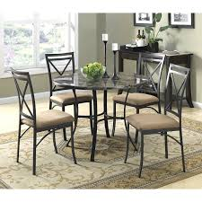 dorel living faux marble top dining table set table