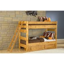 bunk beds kids bunk beds more conn s visions twin over twin bunk bed 4710