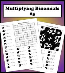 multiplying binomials color worksheet 5 by aric thomas tpt
