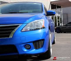 blue nissan sentra 2014 19x8 5 black di forza bm 11 brushed silver on 2014 nissan sentra w
