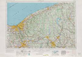 Map Of Cleveland Ohio by Cleveland Topographic Maps Oh Pa Usgs Topo Quad 41080a1 At 1