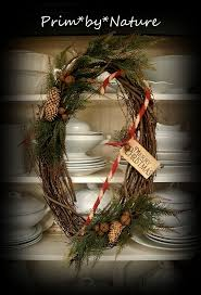 114 best primitive christmas wreaths and hangers images on