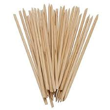 sticks wood orangewood sticks nail orange wood 100 count