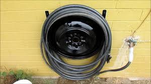 water hose reel wall mount scrap metal hose reel youtube
