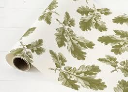 Leaf Table Runner Oak Leaf U0026 Acorn Paper Table Runner U2013 Hester U0026 Cook