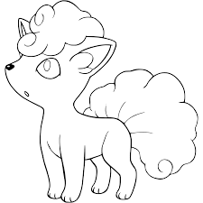 coloring pages pokemon sun and moon alolan vulpix pokemon sun and moon coloring page get coloring pages