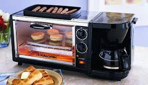 Toaster Oven Set Set 3 In 1 Coffee Maker Oven Griddle