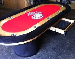 Custom Poker Tables Premium 96 U0027 U0027 Custom Poker Table With Arched Bases Marines Logo